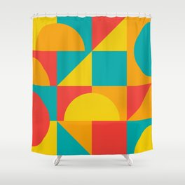 Geometric Colors Shower Curtain