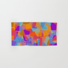 orange red blue and purple abstract background Hand & Bath Towel