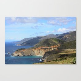 Looking Back at the Bixby Bridge Canvas Print