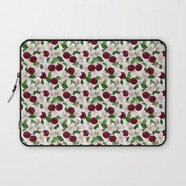Blush pink burgundy cherries blossom floral pattern Laptop Sleeve