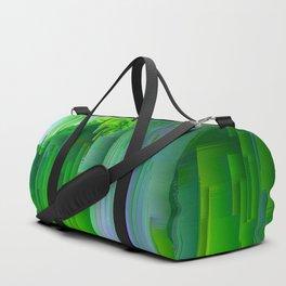 Nature Glitchin' - Abstract Pixel art Duffle Bag