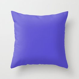 Iris - solid color Throw Pillow