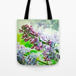 Lilacs In The Green Tote Bag