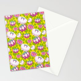 Groovy Lotus Stationery Cards