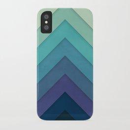 Retro Chevrons 001 iPhone Case