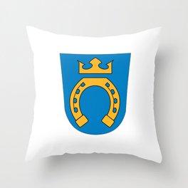 Flag of Espoo Throw Pillow