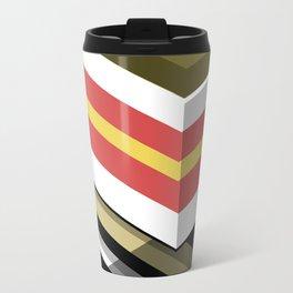Abstract Lined Travel Mug