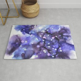Galaxy - Purple Skies - Alcohol Ink Painting Rug