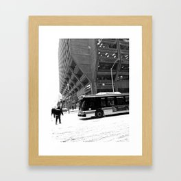 Crossing Bay and Bloor Framed Art Print