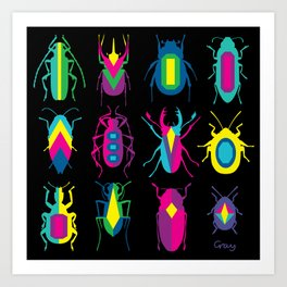 beetle brooches Art Print