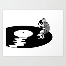 Don't Just Listen, Feel It Art Print