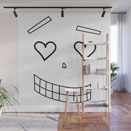 Flirty halloween face Wall Mural