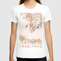 hong kong T-shirts featuring Hong Kong by Maps Factory