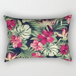 Night tropical garden Rectangular Pillow