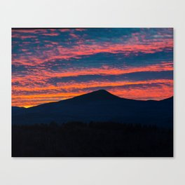 """Sunset Western Maine"" Canvas Print"