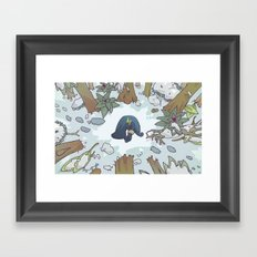 harrowed lost and bound Framed Art Print