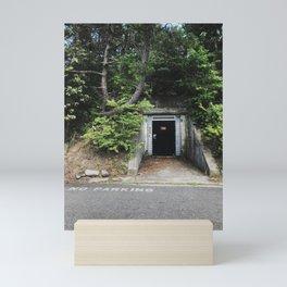 Fourth Cliff Bunker. Humarock, MA. Mini Art Print