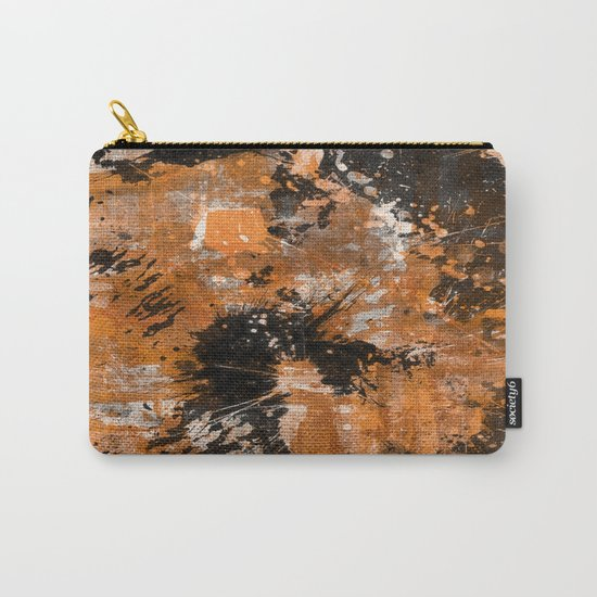 Rusting Darkness - Abstract in gold, black and white Carry-All Pouch