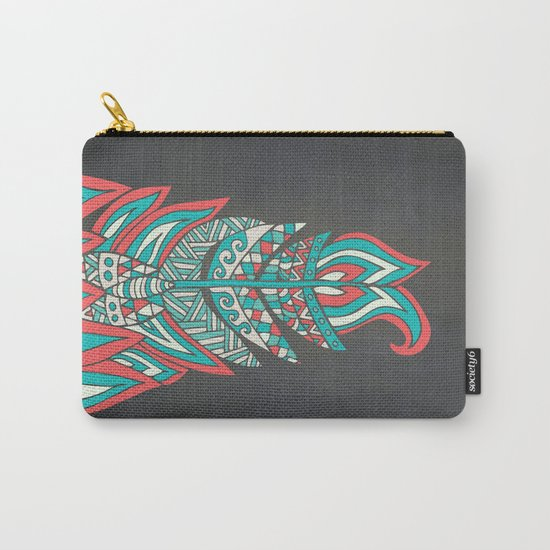 A Romantic Feather Carry-All Pouch