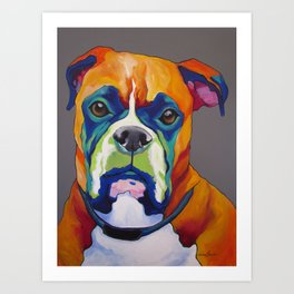 Hank the Boxer Art Print