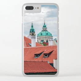 St. Nicholas church and roofs of Prague Clear iPhone Case