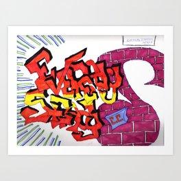 Eveready Steady graffiti logo Art Print