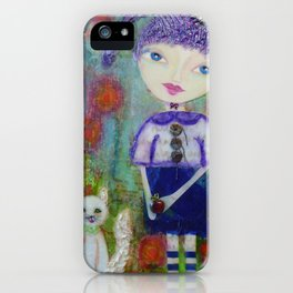 Viola & Lipstick - Whimsies of Light Children Series iPhone Case