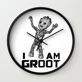 BabyGroot Wall Clock