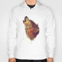 wolf Hoodies featuring Wolf by Amy Hamilton