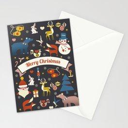 Christmas symbols pattern Stationery Cards