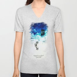 Beyond the clouds | Doctor Who Unisex V-Neck