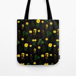 Yellow daisy pattern Tote Bag