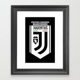 Slogan Juventus Framed Art Print