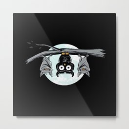 Cute Owl In The Night Metal Print