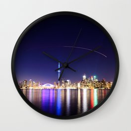 Toronto Vibrant nightscape Wall Clock