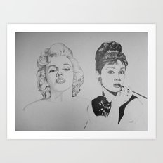 Marilyn and Audrey Art Print