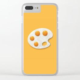 Eggs palette Clear iPhone Case
