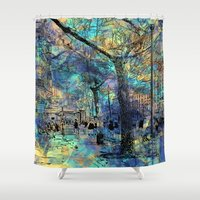 city Shower Curtains featuring CITY by sametsevincer
