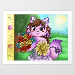 Camilla the French cat Art Print