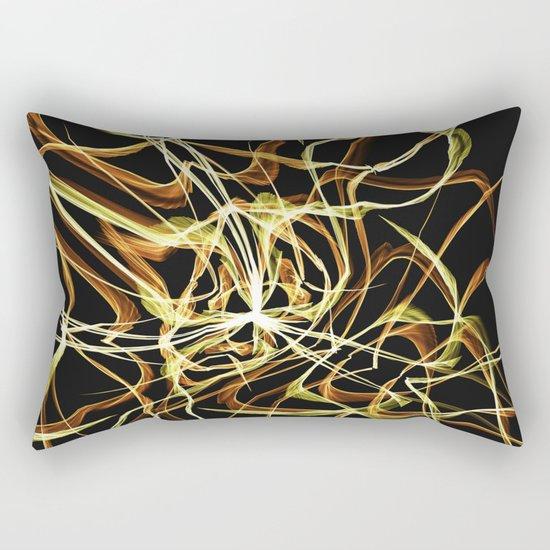 Hearts of Gold Warped Rectangular Pillow