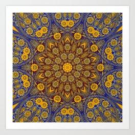 Vintage Morrocan Tile Art Print