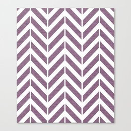 Purple Broken Chevron Canvas Print