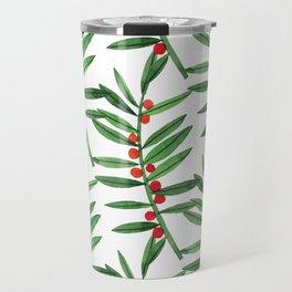 Christmas Botanical Travel Mug