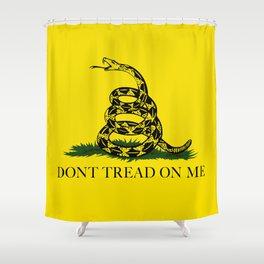 Gadsden Don't Tread On Me Flag, High Quality Shower Curtain