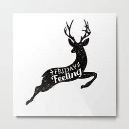 Friday Feeling Jump Metal Print