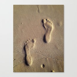 Prints on Sand Canvas Print