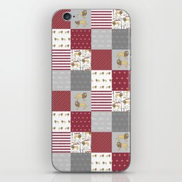 Lion House cheater quilt patchwork wizarding witches and wizards iPhone Skin