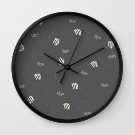 Virgo Pattern Wall Clock