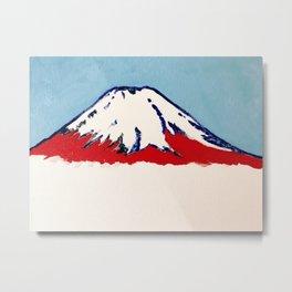 Red Mt. Fuji Metal Print