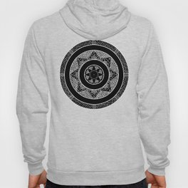Flower Star Mandala - Black White Hoody